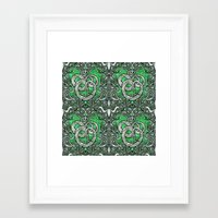 slytherin Framed Art Prints featuring Slytherin by Cryptovolans