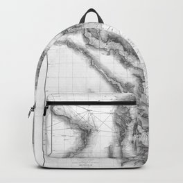 Vintage Map of The Chesapeake Bay (1873) BW Backpack