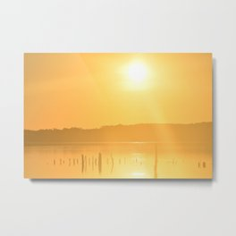 Sun's Morning Greeting Metal Print