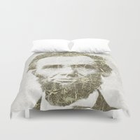 lincoln Duvet Covers featuring Abraham Lincoln by Sney1
