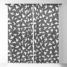 Flock of Birds // white Sheer Curtain