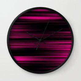 Pink & Black Wall Clock