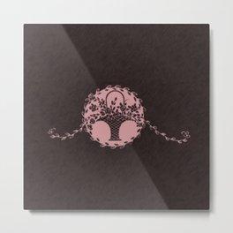 Vintage Floral Bridal Rose Chalkboard Metal Print