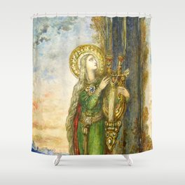 "Gustave Moreau ""Saint Cecilia"" Shower Curtain"
