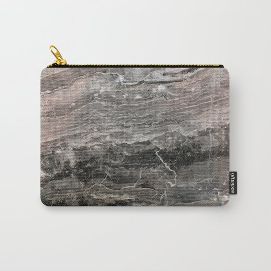 Smokey gray marble Carry-All Pouch