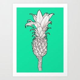 Pineapple - Ananas Arising tropicalteal Art Print