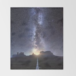 Monument Valley Milky Way Throw Blanket