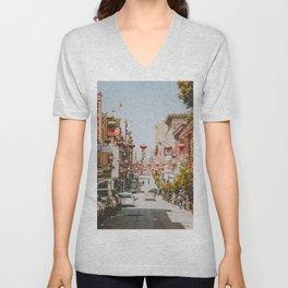 Chinatown / San Francisco, California Unisex V-Neck