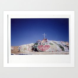 Salvation Mountain Cheki Art Print