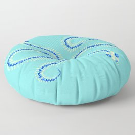Snake Skeleton – Blue & Cream Floor Pillow