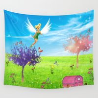 fairy Wall Tapestries featuring Fairy by haroulita