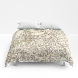 Vintage Map of Holland and Belgium (1775) Comforters