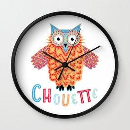 Chouette Owl Wall Clock