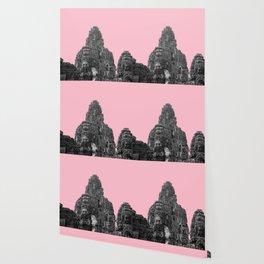 Angkor Wat with pink Wallpaper