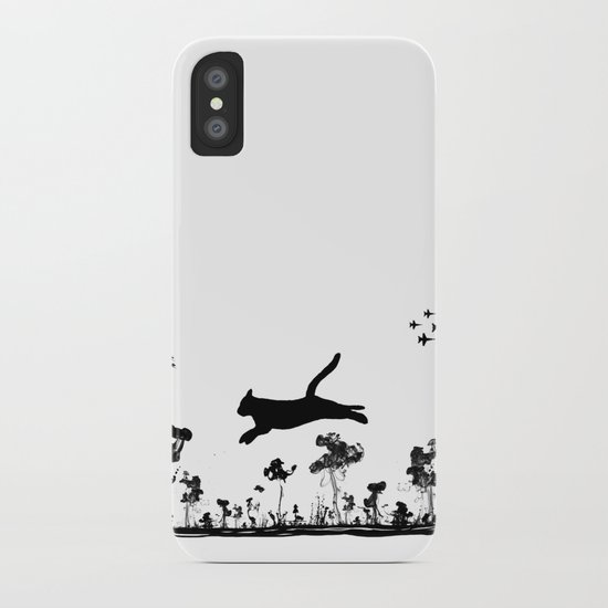 The Cat and Ink drop bombs iPhone Case