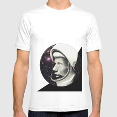 Astronaut White Mens Fitted Tee MEDIUM
