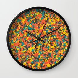 Panelscape: colours from Space Filler Wall Clock