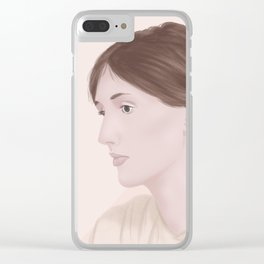 Virginia Woolf Clear iPhone Case