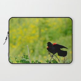 Stay away from here! Laptop Sleeve