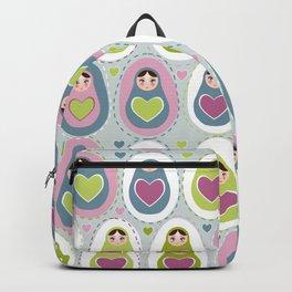 matryoshka with heart Backpack