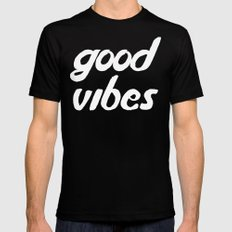 good vibes MEDIUM Black Mens Fitted Tee