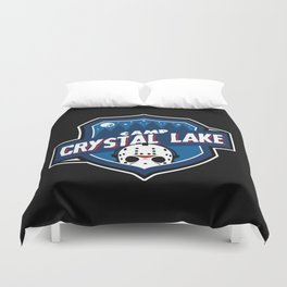 Camp Crystal Lake Badge Duvet Cover