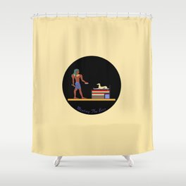 Meating the Boss Shower Curtain