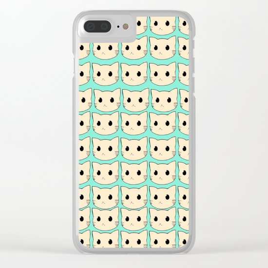cats-423 Clear iPhone Case