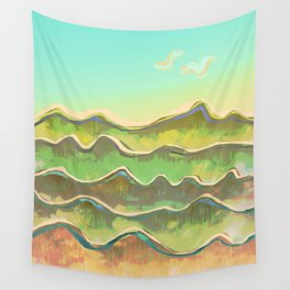 Magic Flight over the Sea of Clouds Wall Tapestry