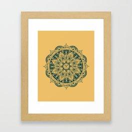 quidditch mandala Framed Art Print