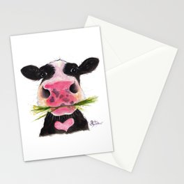 Nosey Cow ' ROCKY ' by Shirley MacArthur Stationery Cards