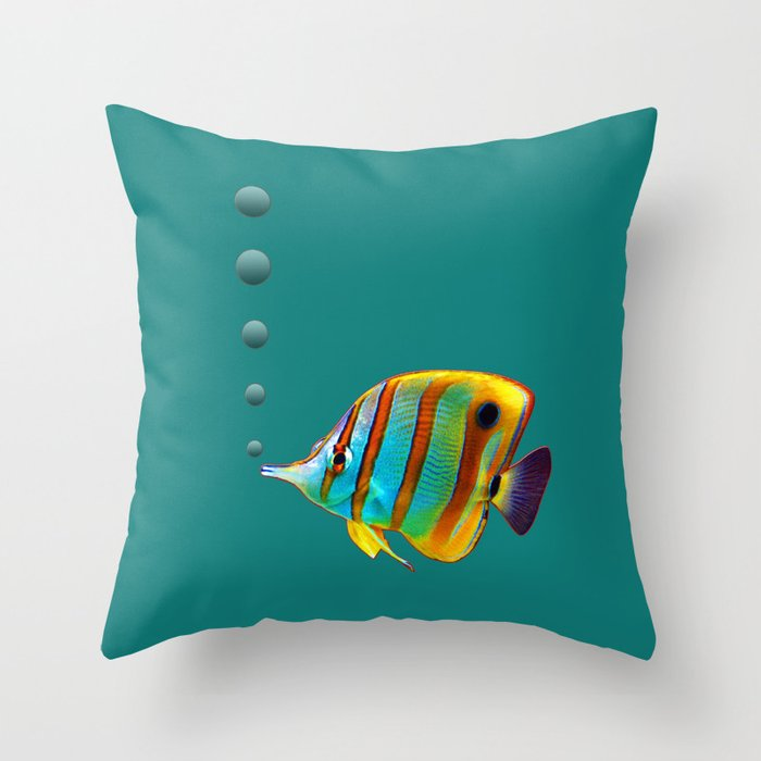 Fish throw pillow by kathleenstephens society6 for Fish throw pillows