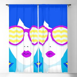 Sunglasses babe Blackout Curtain