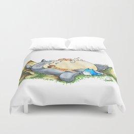 Ghibli forest illustration Duvet Cover