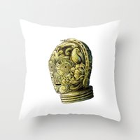 c3po Throw Pillows featuring C3PO by bkpena