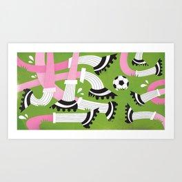 I love football ... Art Print