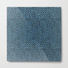Hand Knit Niagra Blue Metal Print
