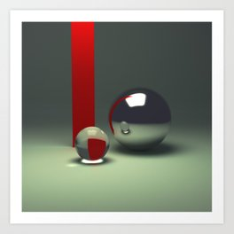 Ray traced abstract composition Art Print