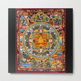 Mandala Buddhist 2 Metal Print