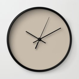 Sherwin Williams Trending Colors of 2019 Shiitake (Light Beige, Brown) SW 9173 Solid Color Wall Clock