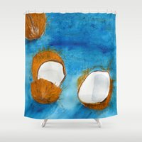 coco Shower Curtains featuring Coco by Cro_Ki