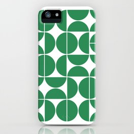 Mid Century Modern Geometric 04 Green iPhone Case
