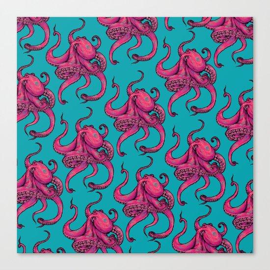 Octopus Pattern Canvas Print