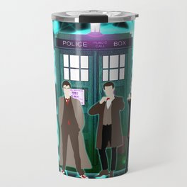 The Doctors And Tardis Travel Mug