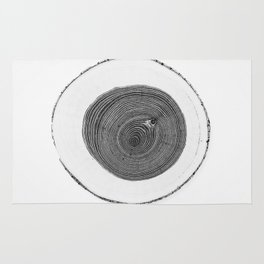Cut wood -Scandinavian art Rug