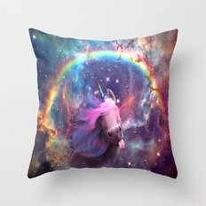 Unicorns belong in space Throw Pillow
