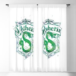 Slytherin Crest Blackout Curtain