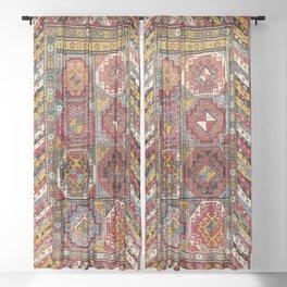 Moghan Southeast Caucasus Antique Rug Print Sheer Curtain