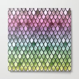 Pretty Mermaid Scales 119 Metal Print