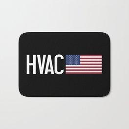 HVAC: HVAC & American Flag Bath Mat